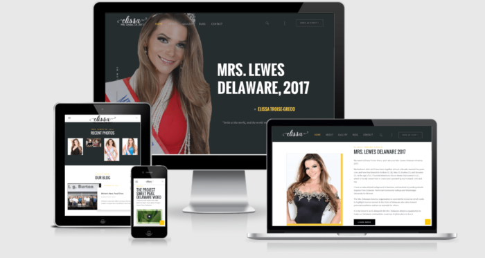 Mrs. Lewes, Delaware 2017 website design by CIRJ Concepts