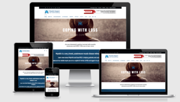 Myositis Support and Understanding responsive website, logo design, SEO, and custom graphic designs by Dapper Web Designs and CIRJ Concepts