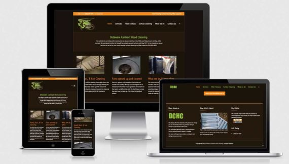 Delaware Contract Hood Cleaning website by Dapper Web Designs